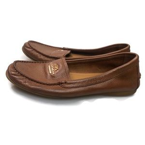 Coach   Opal Brown Leather Loafers Women's Size 6B